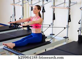 1960s woman massagedvibrating exercise machine stock