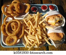 Tray of Junk Food