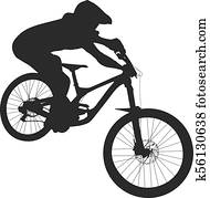 athlete mtb downhill bike