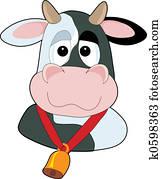 Goofy Cow Head