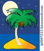 Moonlight Palm Tree