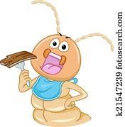 termite, essende, holz
