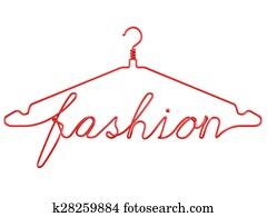 Red wire clothes hangers FASHION