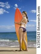 Woman on Maui beach.