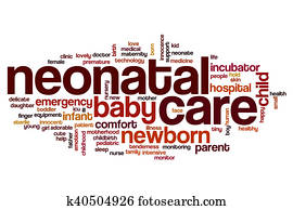 Neonatal care word cloud