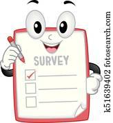 Survey Mascot Illustration
