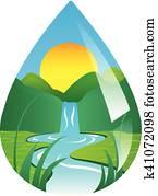 water drop image
