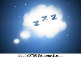 Abstract sleep cloud background