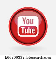 Istanbul, Turkey - March 2, 2019: Collection of popular social media logo printed on white paper: Youtube.