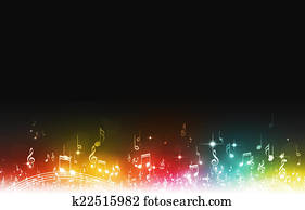 Multicolor Music Notes