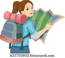 Teen Girl Map Guide Travel