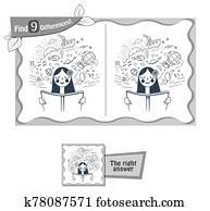 book to read find 9 differences black