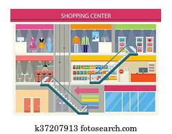 Shopping Mall Vectors | Our Top 1000+ Shopping Mall Clip ...