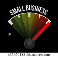 small business meter sign concept