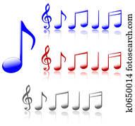 Shiny Music Notes
