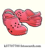 croc shoes cartoon .