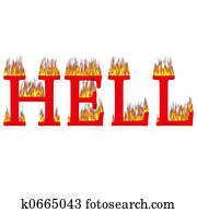 Hell on fire