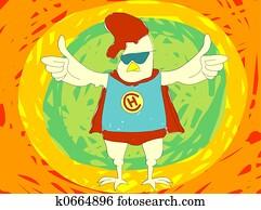 Super hero Chicken