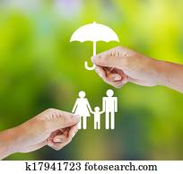 Family, insurance concept