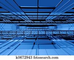 Hi-tech interior space