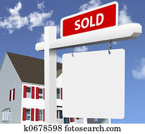 Home SOLD Real Estate Sign
