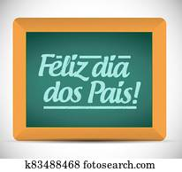 Happy fathers day in portuguese message sign