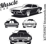 Muscle Car isolated.