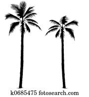 Palm tree silhouette 1