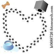 Puppy Love Paw Prints Trail