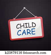 child care hanging sign