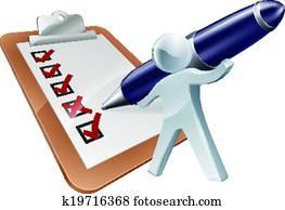 Feedback person and survey