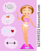 girl on diet
