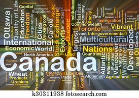 Canada background concept glowing