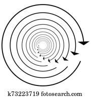 Circular, circle arrow left. Radial arrow icon, symbol ...