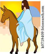 Jesus rides