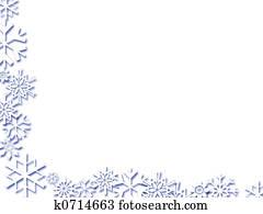 snowflake border