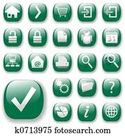 Web Icons Set-Green