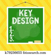 Word writing text Key Design. Business concept for a necessary or very important realization of a concept or idea Asymmetrical uneven shaped format pattern object outline multicolour design.
