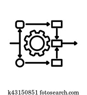 workflow automation illustration design