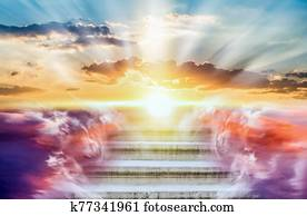 Religion background . Heavens gate .