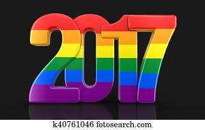 Gay Pride Color New Year 2017