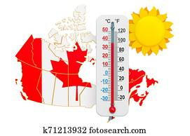 Heat in Canada concept. 3D rendering
