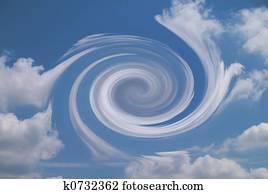 Vortex in cloudy sky