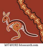 Aboriginal style background