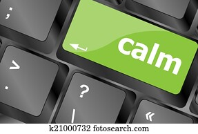 calm key on computer keyboard button