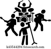 rockgruppe, piktogramm