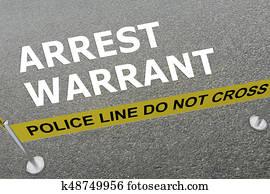 Arrest Warrant concept