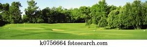 Golf field panorama