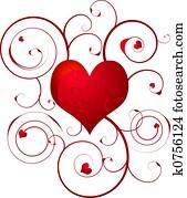 love heart swirl