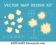 Vector Treasure Map Generator